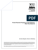 Private Placement Programs and Trade Platforms White Paper
