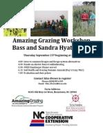 Amazing Grazing Workshop, Brasstown, NC