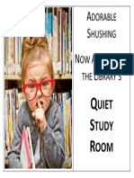 Quiet Study - Adorable Shushing