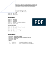 MA English Semester System 2014