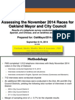 Oakland Mayor / City Council Race Poll By OakMayor2014.com