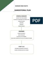Marison Fiber Crafts Organizational Plan