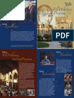 Eli Whitney Students Program 2012-2013