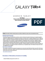 Samsung Galaxy Tab 4 8.0 Manual