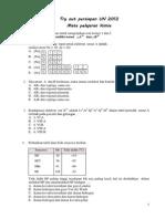 Soal Latihan 1 UN 2012 Kimia