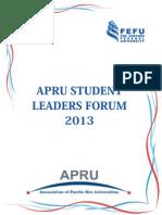 1 Student Leaders Forum 2013 Participant Handbook