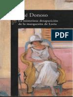 Donoso, Jose - La Misteriosa Desaparicion de La Marquesita de Loria