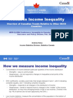 Trends in income inequality