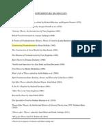 Supplementary Reading List