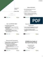 Case Studies of Municipal Energy Savings
