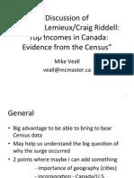 Discussion of Thomas Lemieux/Craig Riddell