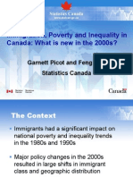Immigration, Poverty and Inequality in  Canada