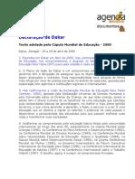 Texto- Declaracao de Dakar-Senegal 2000