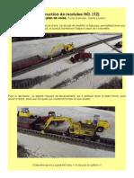 MODÉLISME FERROVIAIRE  à l'échelle HO. (12) Construction de modules. Refonte du plan de voies. Texte & photos