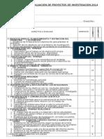 Ficha Evaluacion Proyectos 2014