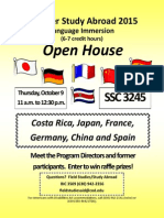 study abroad open house summer 2015