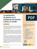 Perspectiva de Género en El Transporte de América Latina y El Caribe
