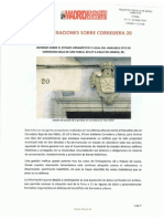 Informe sobre el estado urbanístico y legal del inmueble sito en Corredera Baja de San Pablo 20 C/F a Calle del Barco 39