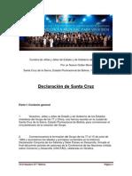 ... Hacia un Nuevo Orden Mundial, [para vivir bien] - Declaración de Santa Cruz de la Sierra.docx