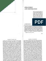 Adorno.stravinsky and Restoration