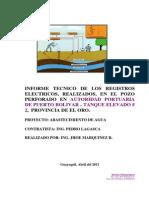 Autoridad Portuaria , Informe Reg. Electr. Pozo 150 m.