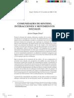 Comunidades de Sentido Interacciones y Movimientos Sociales