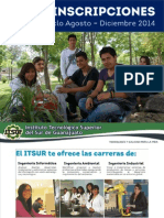 Inscripciones Ciclo Escolar Ago-Dic 2014