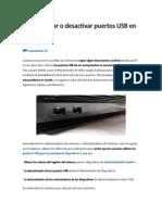 Cómo Activar o Desactivar Puertos USB en Windows 7