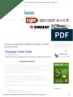 Calculo de Población y Periodo de Diseño - Sistema de Agua Potable - CivilGeeks