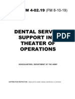 Fm 4-02.19 Dental Service Support in a Theater of Operations