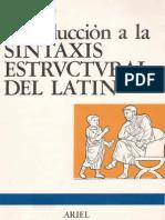 Rubio Lisardo Introduccion a La Sintaxis Estructural Del Latin
