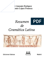 Enriquez J a Lopez a Resumen de Gramatica Latina