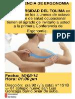 Afiches Seminario de Ergonomia