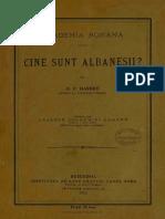 Bogdan Petriceicu-Hasdeu - Cine Sunt Albanezii