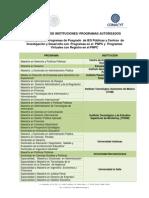 C1 Instituciones Academicas Autorizadas PFAN-2014-2