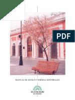 Manual de Estilo y Normas Editoriales El Colegio de Sonora