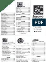 Sapporo Menu