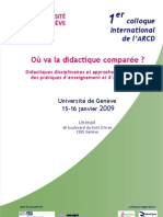 "1^ Colloque international de l'ARCD - ""Où va la didactique comparée?"""