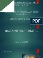 TRATAMIENTO TERMICO, COCCION