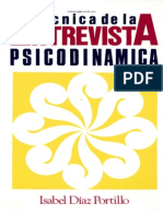Tecnicas de La Entrevista Psicodinamica Isabel Diaz Portillo