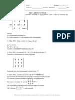 Lista de Exercicios Matrizes e Determinantes