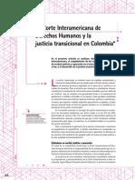 La Corte Interamericana de Derechos y La Justicia Transicional en Colombia