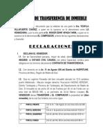 Contrato de Transferencia de Inmueble