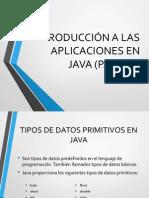Introducción a Las Aplicaciones en Java 3