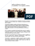 Evangélicos Italianos Rechazan