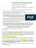 4220-2012 WFLN RAL - Tips to Writing & Sample Emails