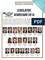 2014 Taxpayers League of Minnesota Scorecard