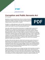 Corruption and Public Servants Act