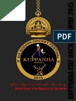 Kuppanda Cup Brochure