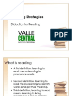 Didactics for Reading and Listening in English